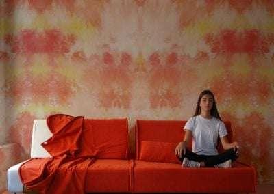sofa desmontable desenfundable y modular Modelo Sugar de 120 en tela orange de sitsofa