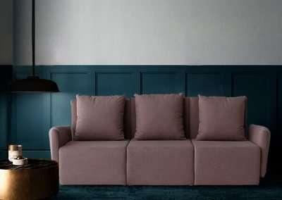 Sofá de 3 plazas del modelo Circo tapizado en tela Austin Flamingo de SITSOFA