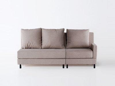 sofá brick tres plazas brazo derecho modular brick