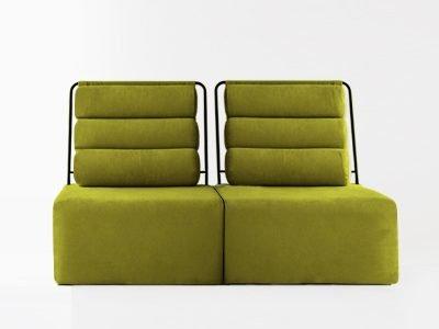 sofá roler dos plazas sin brazos desenfundable modular roler
