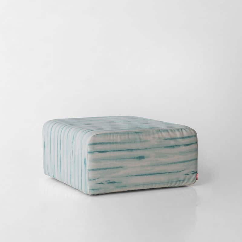 Puf Roler tapizado lino estampado tie